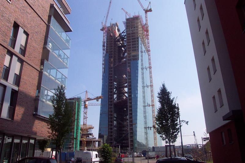 EZB im Bau